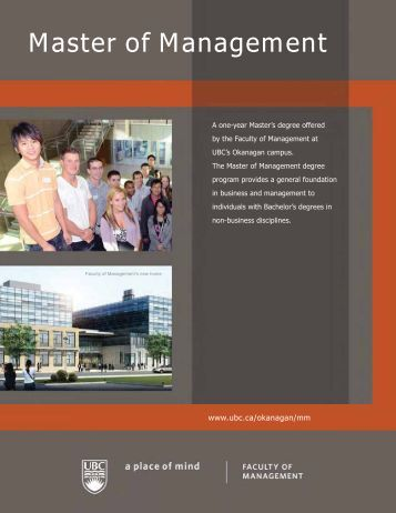 Master of Management - University of British Columbia