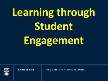 Learning through Student Engagement