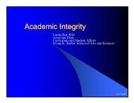 Academic Integrity Presentation