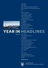 2009 | 10 Year in Headlines - University of British Columbia