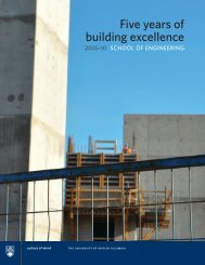 Five years of building excellence - University of British Columbia