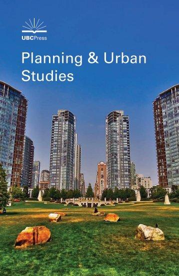 Planning & Urban Studies - UBC Press