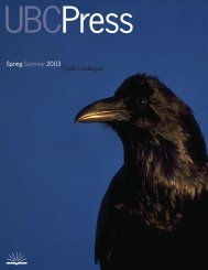 Spring Summer 2003 Trade Catalogue - UBC Press