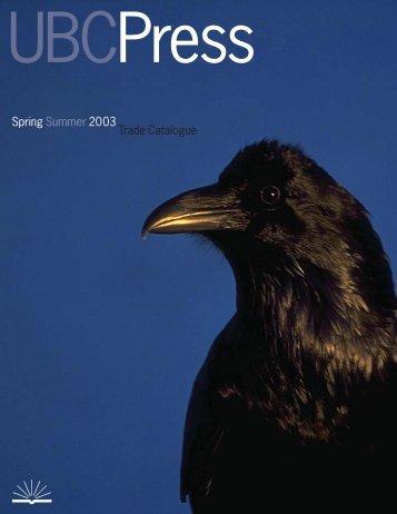 Spring Summer 2003 Trade Catalogue - UBC Press
