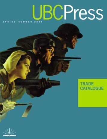 TRADE CATALOGUE - UBC Press