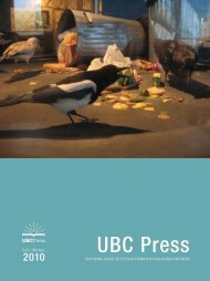 Fall 2010 Download Trade Books Catalogue [PDF 3.3 ... - UBC Press