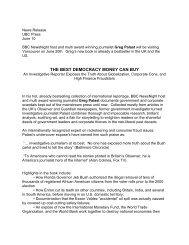 THE BEST DEMOCRACY MONEY CAN BUY - UBC Press