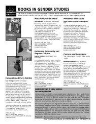 books in gender studies - UBC Press - University of British Columbia