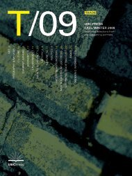 Fall/Winter 2009 UBC Press Trade Catalogue