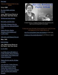 Marian Rowley's Photo Album - Urantia Book Historical Society