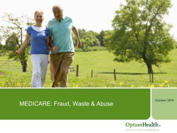 MEDICARE: Fraud, Waste & Abuse - Ubhonline.com
