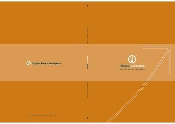 Bilancio Sociale 2004 - UBI Banca