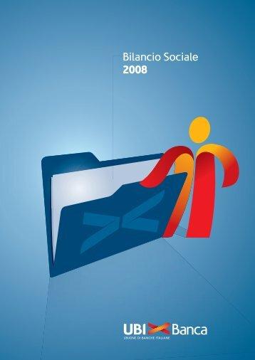 Bilancio Sociale 2008 - UBI Banca