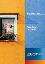 Bilancio Sociale 2012 - UBI Banca