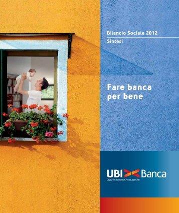 Fare banca per bene - UBI Banca