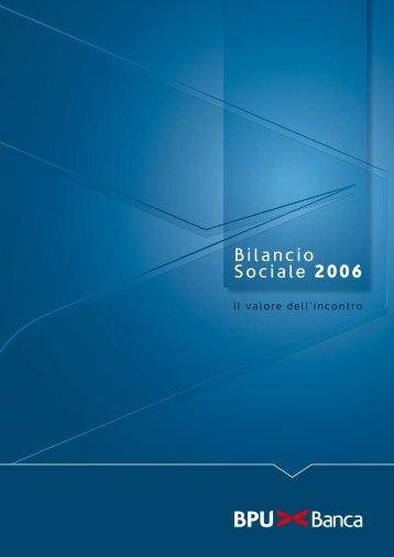 Bilancio Sociale 2006 - UBI Banca