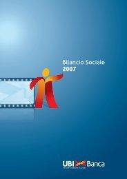 Bilancio Sociale 2007 - UBI Banca