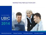 MARKETING REFLECTION DAY CONSULTING - UBIC-Consulting