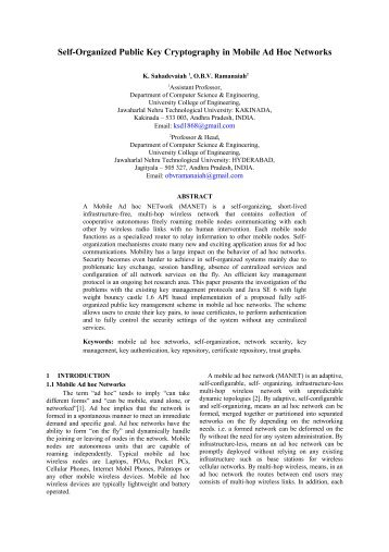 Self Organized Public Key Cryptography in Mobile Ad Hoc Networks