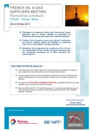 FRENCH OIL & GAS SUPPLIERS MEETING ... - UBIFRANCE