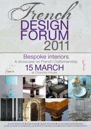 Catalogue French Design Forum 2011 - UBIFRANCE