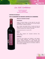 Les AOC Corbières: - UBIFRANCE