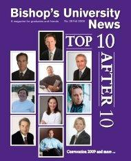 Fall 2009 - Bishop's University