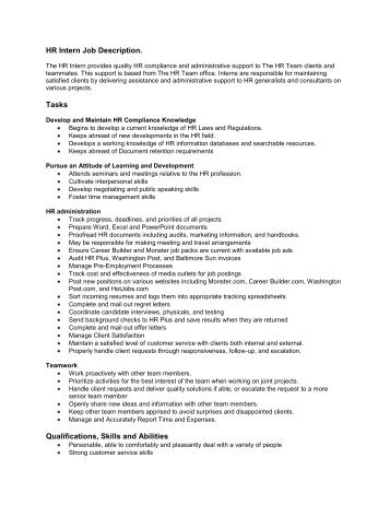 Intern Job Description Template | Workable. Student Pictures