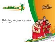 Prestations pour les organisateurs - UBS Kids Cup