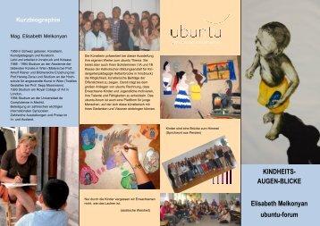 KINDHEITS- AUGEN-BLICKE Elisabeth Melkonyan ... - ubuntu-Imst