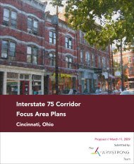 Interstate 75 Corridor Focus Area Plans - University of Cincinnati