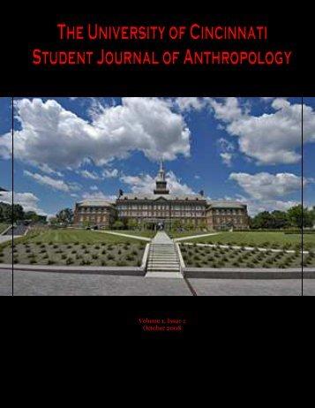 Volume 1, Issue 1 - University of Cincinnati