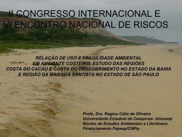 relação de uso e fragilidade ambiental em ambiente costeiro
