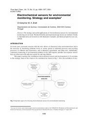 Electrochemical sensors for environmental monitoring. Strategy and ...