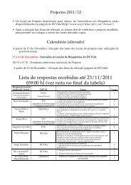 Lista de respostas recebidas até 23/11/2011 (09:00 h) (ver nota no ...
