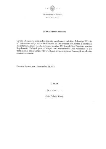Regulamento Eleitoral - Universidade de Coimbra