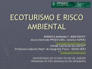 ECOTURISMO E RISCO AMBIENTAL