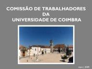 Comissões de trabalhadores - Universidade de Coimbra