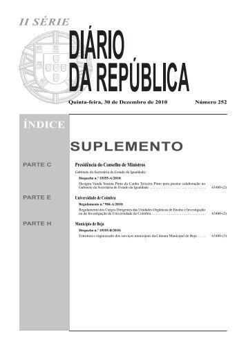 Regulamento - Cargos Dirigentes das Unidades Orgânicas de ...