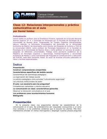 Clase 12- Relaciones interpersonales y práctica comunicativa en el ...