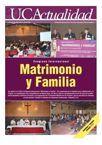 Matrimonio y Familia - Universidad Católica Argentina