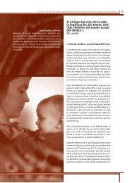 El eclipse del valor de la vida - Universidad Católica Argentina