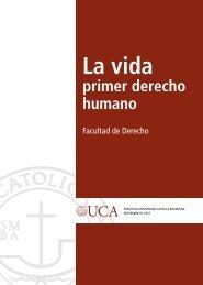 La vida primer derecho humano. - Universidad de Navarra