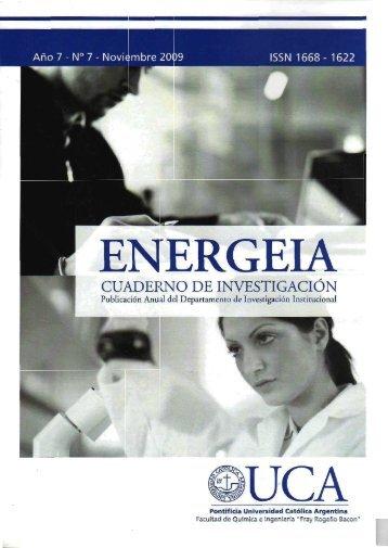 Revista Energeia - Vol. 7 - Diciembre 2009 - Universidad Católica ...