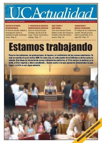 Número 58 Marzo 2005 - Universidad Católica Argentina