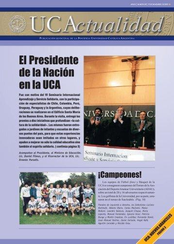 Número 38 Noviembre 2003 - Universidad Católica Argentina