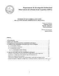 Informe Técnico sobre la situación de las Comunidades Aborígenes ...