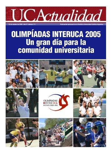 Número 71 Octubre 2005 - Universidad Católica Argentina