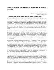 introducción: desarrollo humano y deuda social - Universidad ...