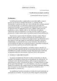 AMISTAD Y JUSTICIA Preliminares La deliberación jurídica ...